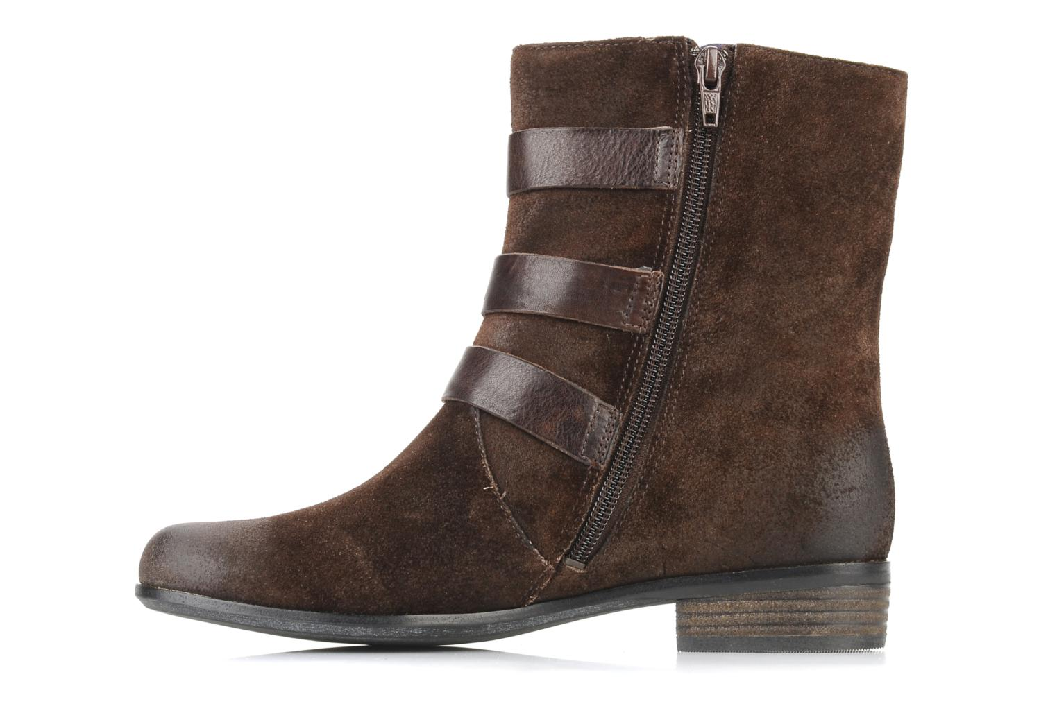 Ankle boots Clarks Meg kelly Brown front view