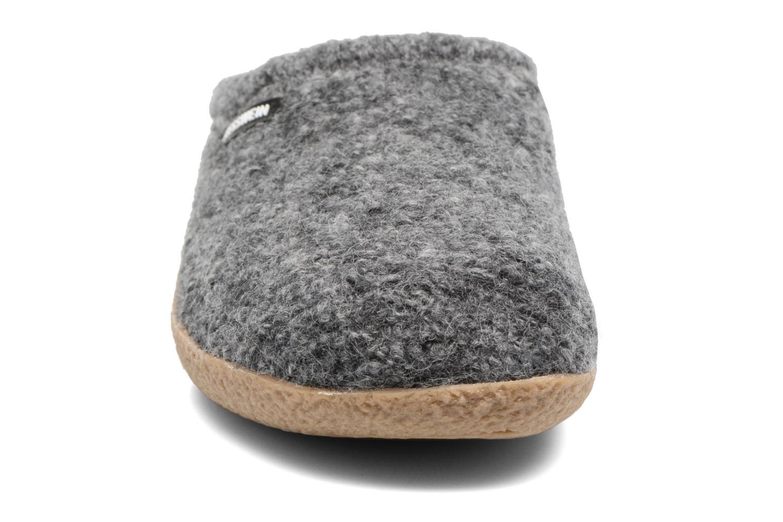 Hausschuhe Giesswein Veitsch grau schuhe getragen