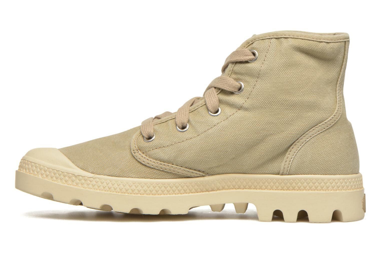 Sneakers Palladium Us pampa hi w Beige voorkant