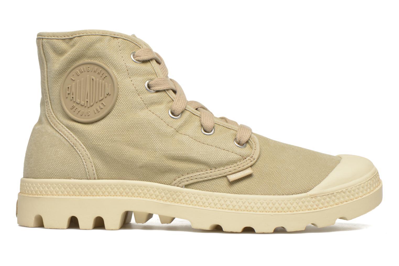Sneakers Palladium Us pampa hi w Beige achterkant