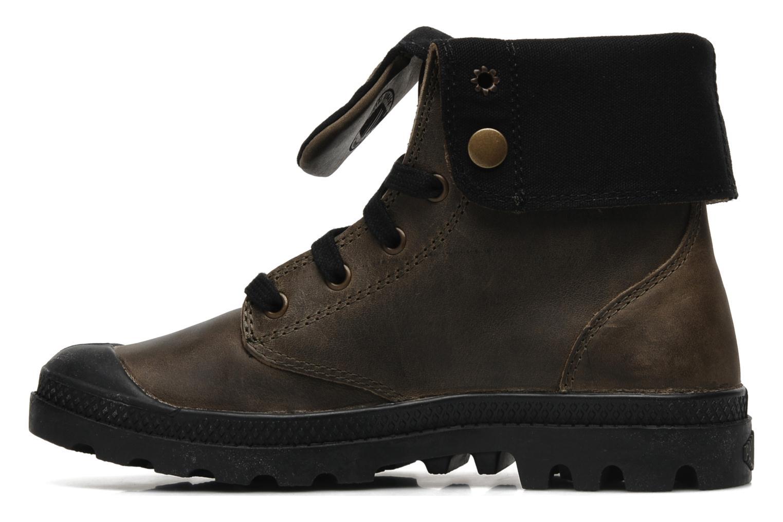 Sneaker Palladium Baggy leather w grau ansicht von vorne