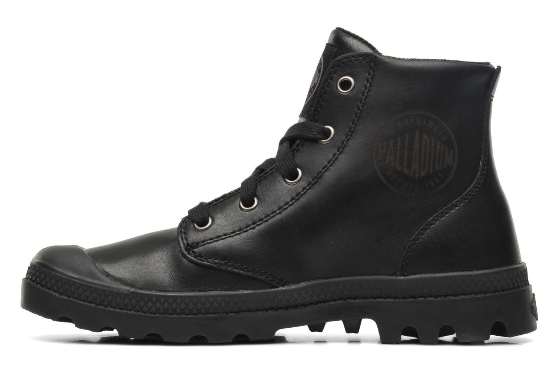 Sneaker Palladium Pampa hi leather w schwarz ansicht von vorne