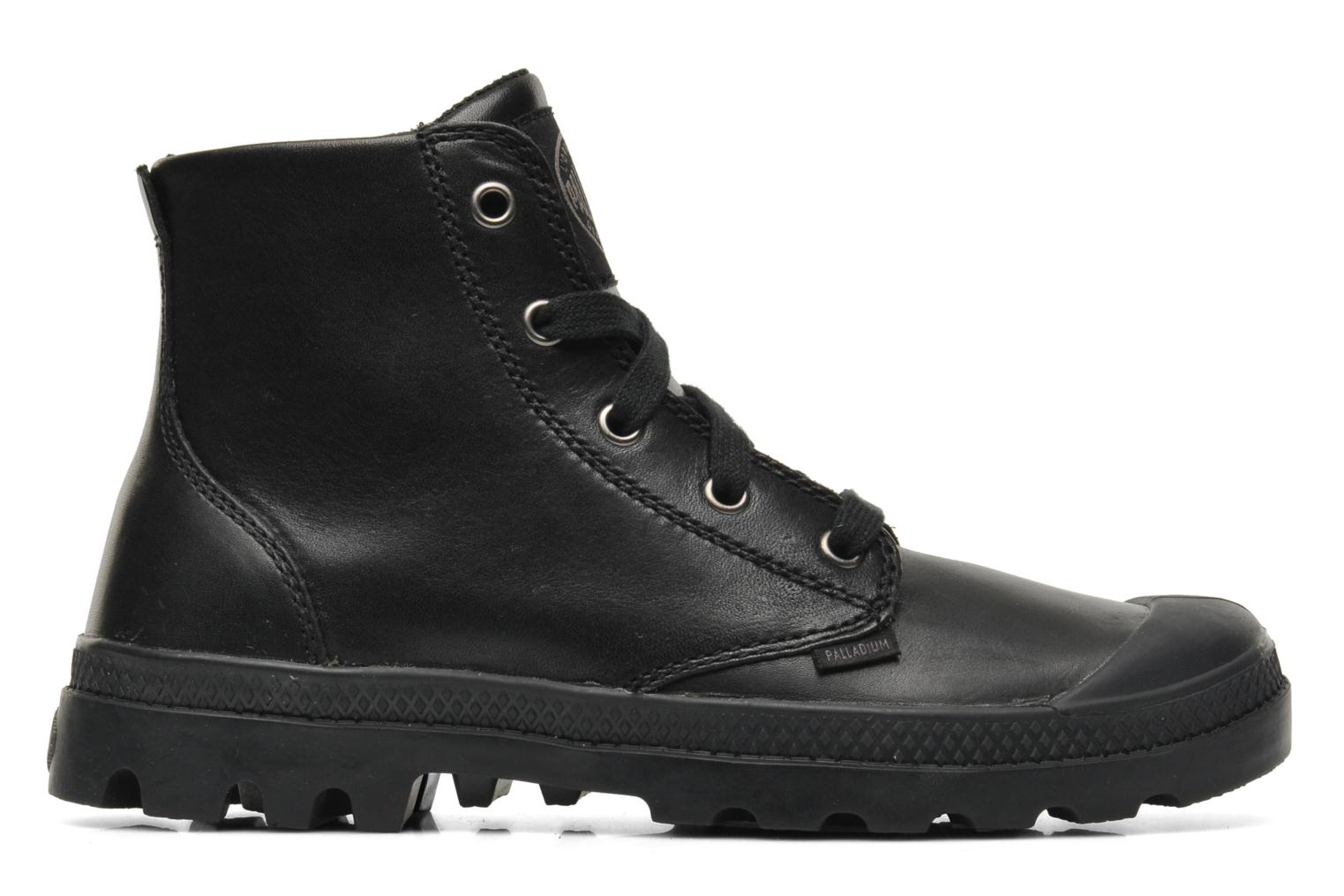 Baskets Palladium Pampa hi leather w Noir vue derrière