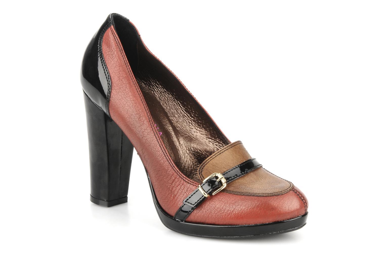 High heels San Marina Moracee Red detailed view/ Pair view