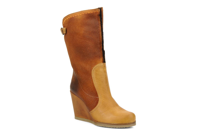 Boots en enkellaarsjes Bertie Miguel Bruin detail