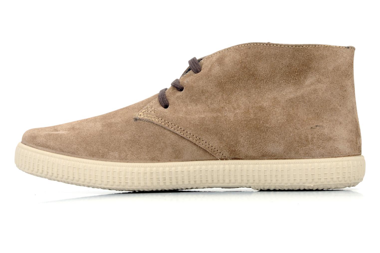 Chaussures à lacets Victoria Safari serraje M Beige vue face