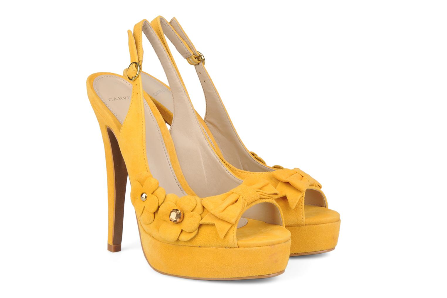Sandals Carvela Gypsy Yellow 3/4 view