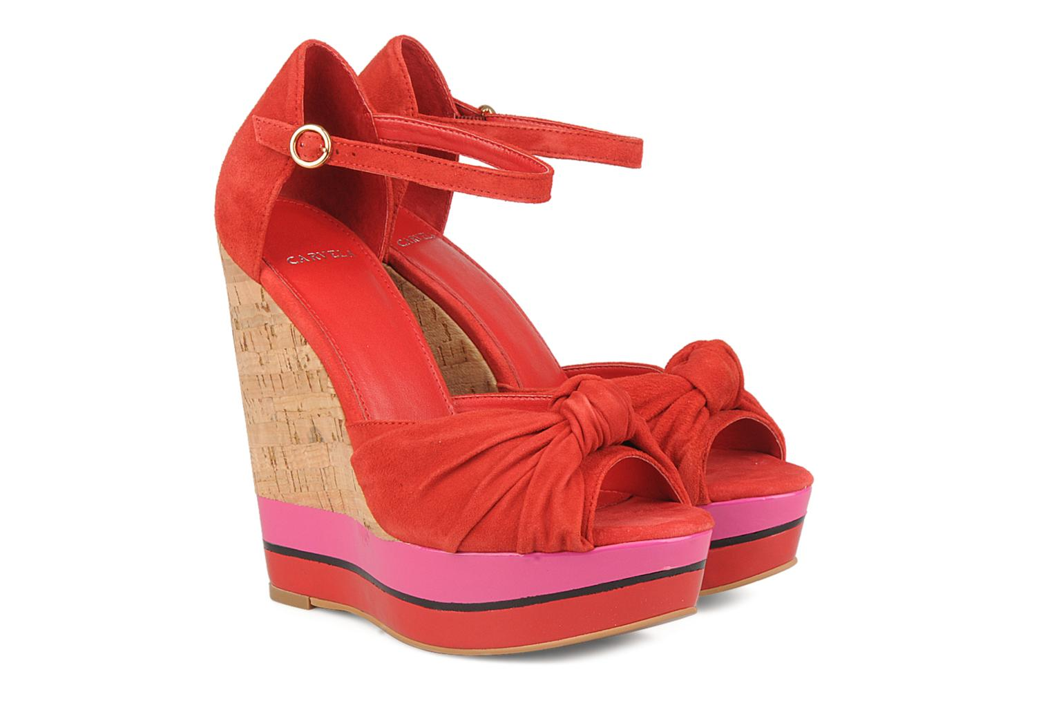 Sandals Carvela Kennis Red 3/4 view