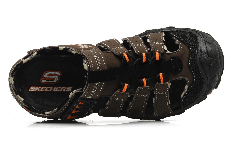 Sandalen Skechers Gripperz - 92380L braun ansicht von links