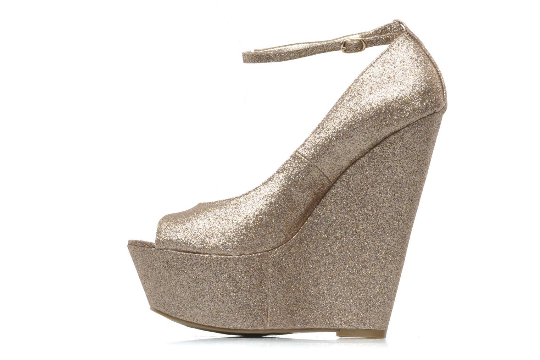 Zapatos de tacón Carvela Grass Oro y bronce vista de frente