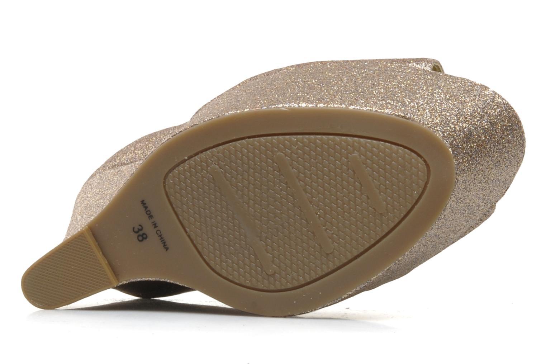 Zapatos de tacón Carvela Grass Oro y bronce vista de arriba