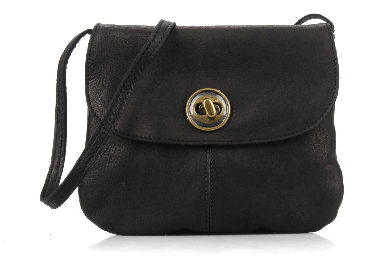 Handtassen Pieces Totally Royal leather Party bag Zwart detail