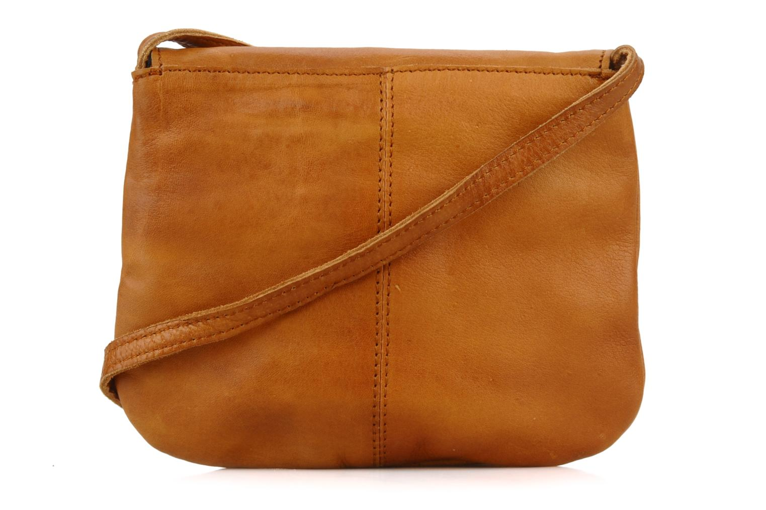 Handbags Pieces Totally Royal leather Party bag Brown front view
