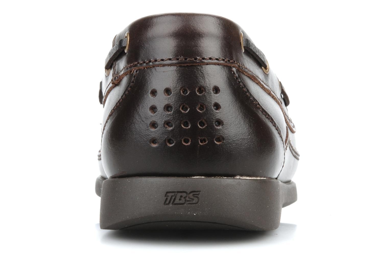 Zapatos con cordones TBS Neuron Marrón vista lateral derecha