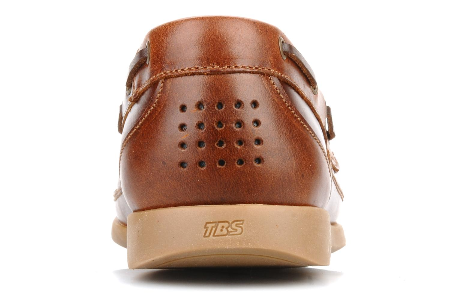Lace-up shoes TBS Neuron Brown view from the right