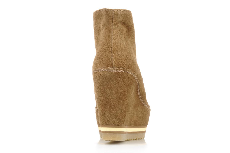 Zapatos con cordones Georgia Rose Viana Marrón vista lateral derecha