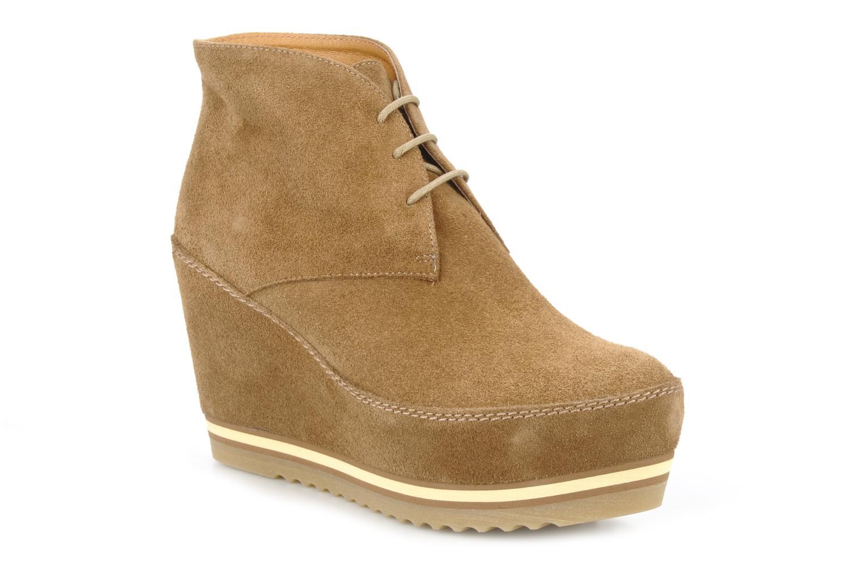 Chaussures à lacets Georgia Rose Viana Marron vue détail/paire