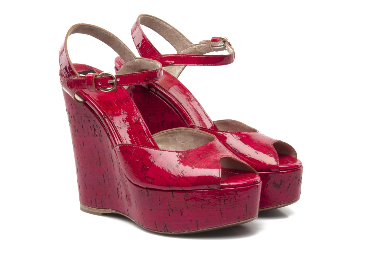 Sandales et nu-pieds D&G Piral Rouge vue 3/4