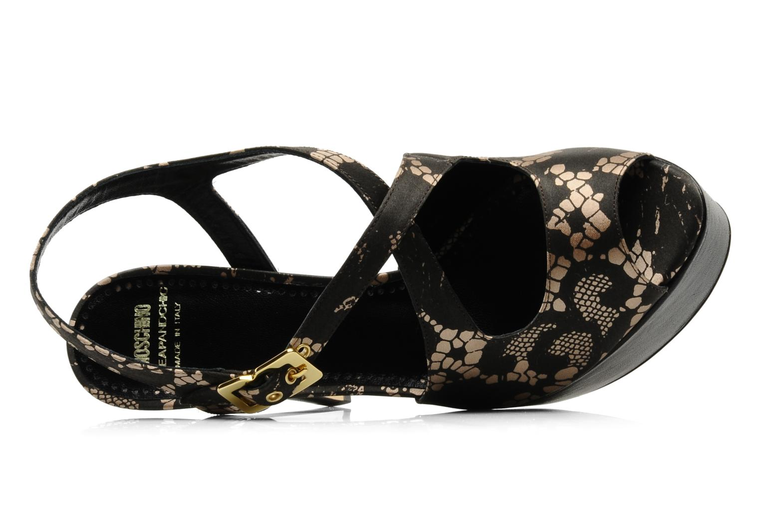 Sandals Moschino Cheap & Chic Viviane Black view from the left