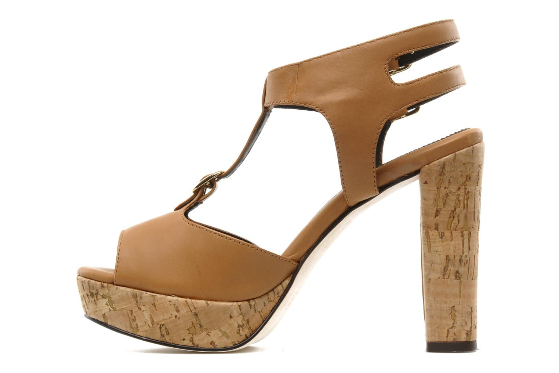 Sandalias Tila March Plateform sandal t-bar Marrón vista de frente