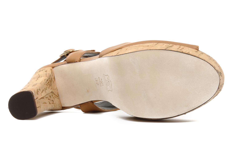 Sandalias Tila March Plateform sandal t-bar Marrón vista de arriba