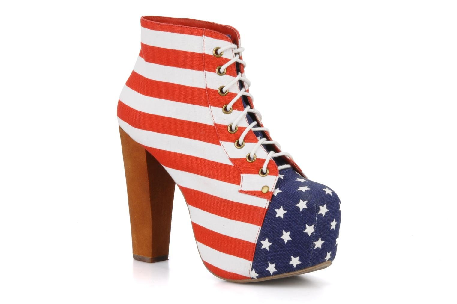 Ankle boots Jeffrey Campbell Lita flag Multicolor detailed view/ Pair view
