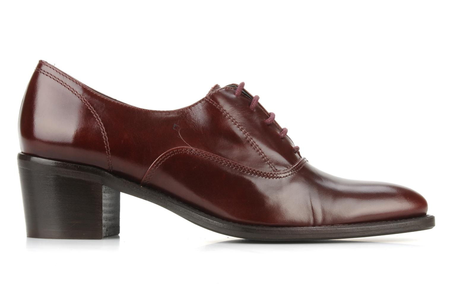 Veterschoenen Georgia Rose Daporo Bordeaux achterkant