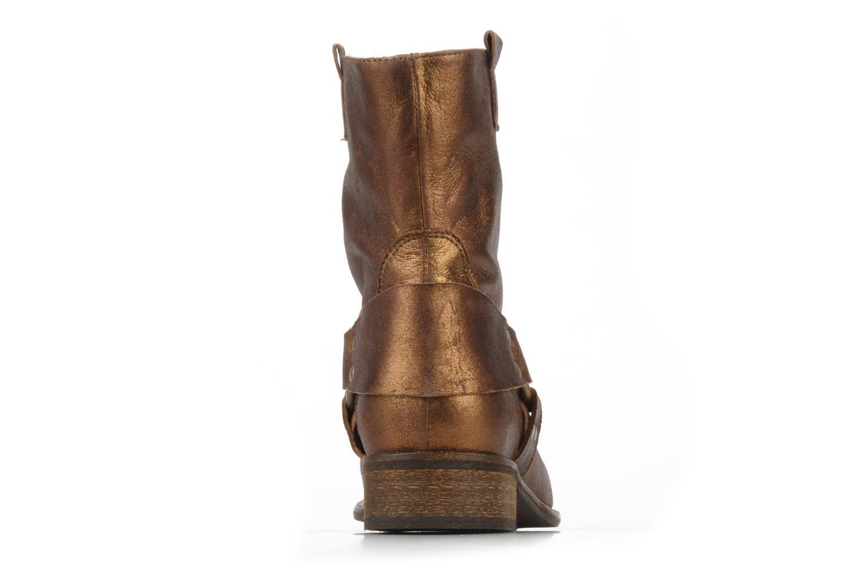 Bottines et boots Georgia Rose Dasine Or et bronze vue droite