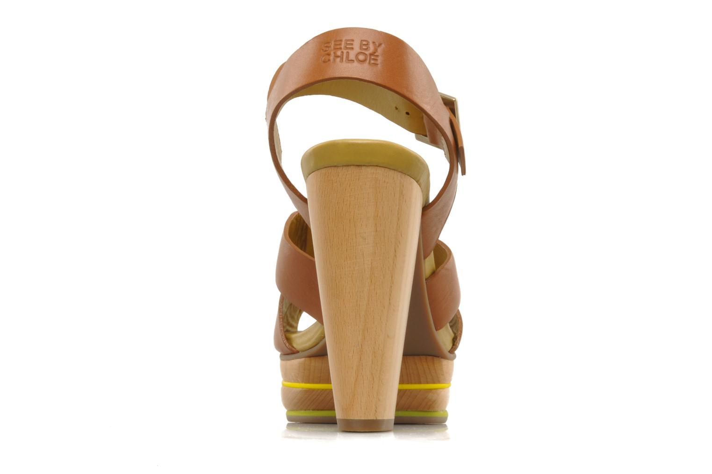 Sandales et nu-pieds See by Chloé Palma Marron vue droite