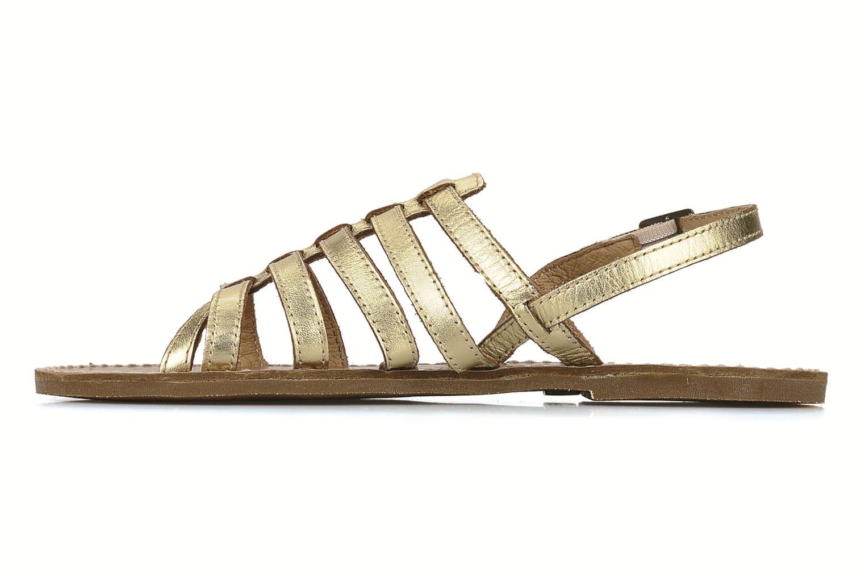 Sandals Le temps des cerises Sparti Bronze and Gold front view