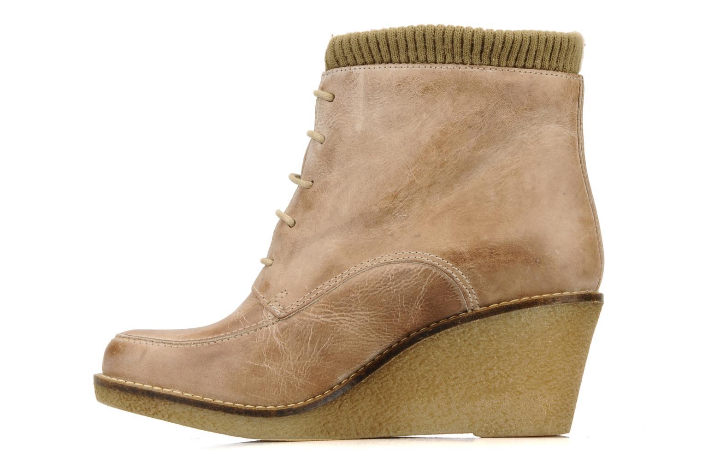 Ankle boots Castaluna Mildred XL Beige front view