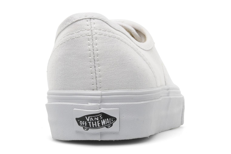 Sneaker Vans Authentic w weiß ansicht von rechts