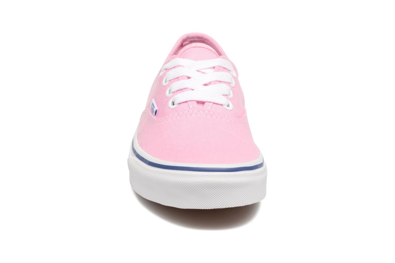 Baskets Vans Authentic w Rose vue portées chaussures