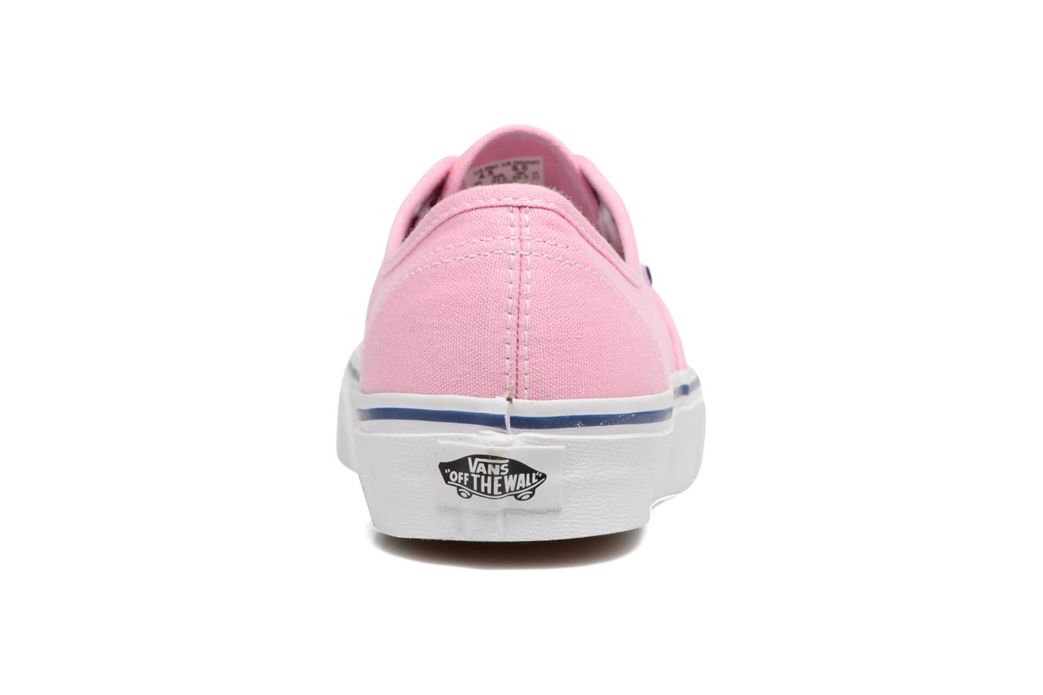 Trainers Vans Authentic w Pink view from the right