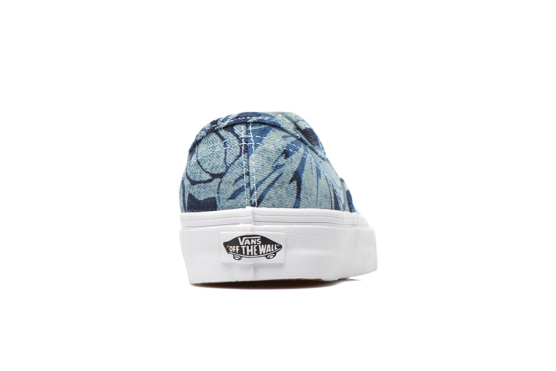Authentic w (Indigo Tropical) blue/true white