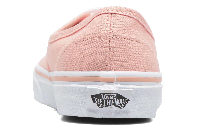 Sneaker Vans Authentic w orange ansicht von rechts