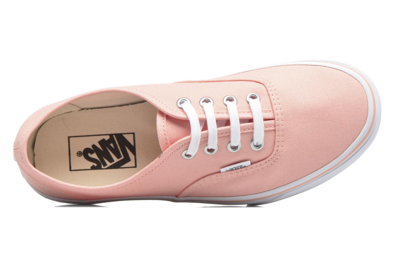 Sneaker Vans Authentic w orange ansicht von links