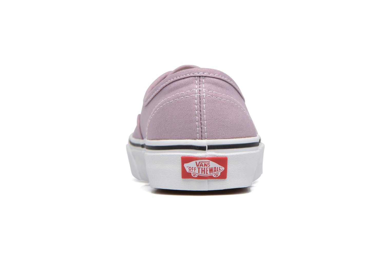 Baskets Vans Authentic w Violet vue droite
