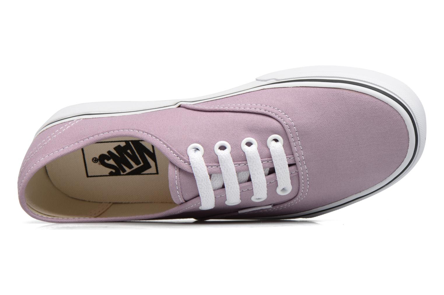 Trainers Vans Authentic w Purple view from the left
