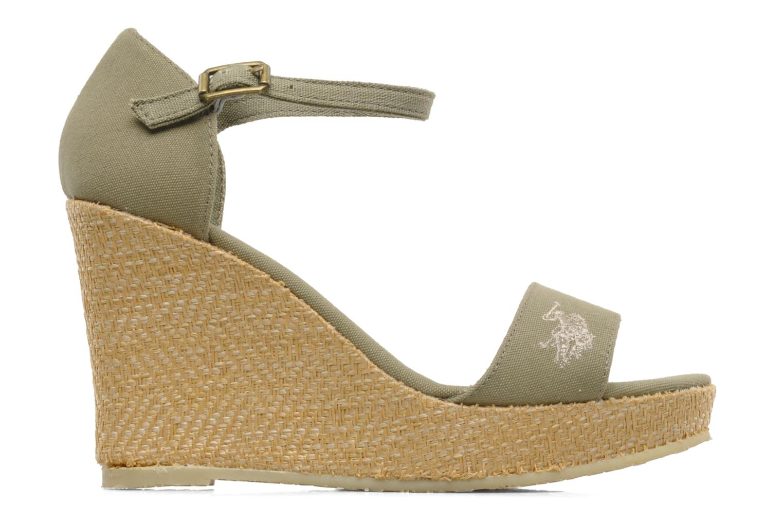 Sandales et nu-pieds U.S Polo Assn. Becky Vert vue derrière