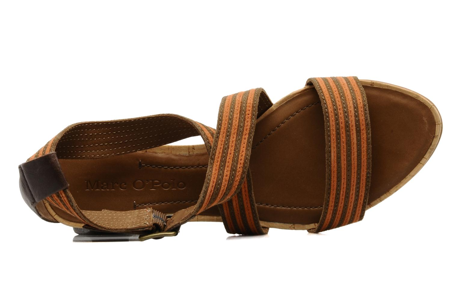 Sandals Marc O'Polo Kella Brown view from the left