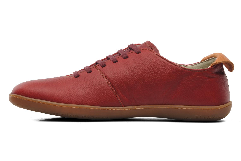 Zapatos con cordones El Naturalista El Viajero N296 M Rojo vista de frente