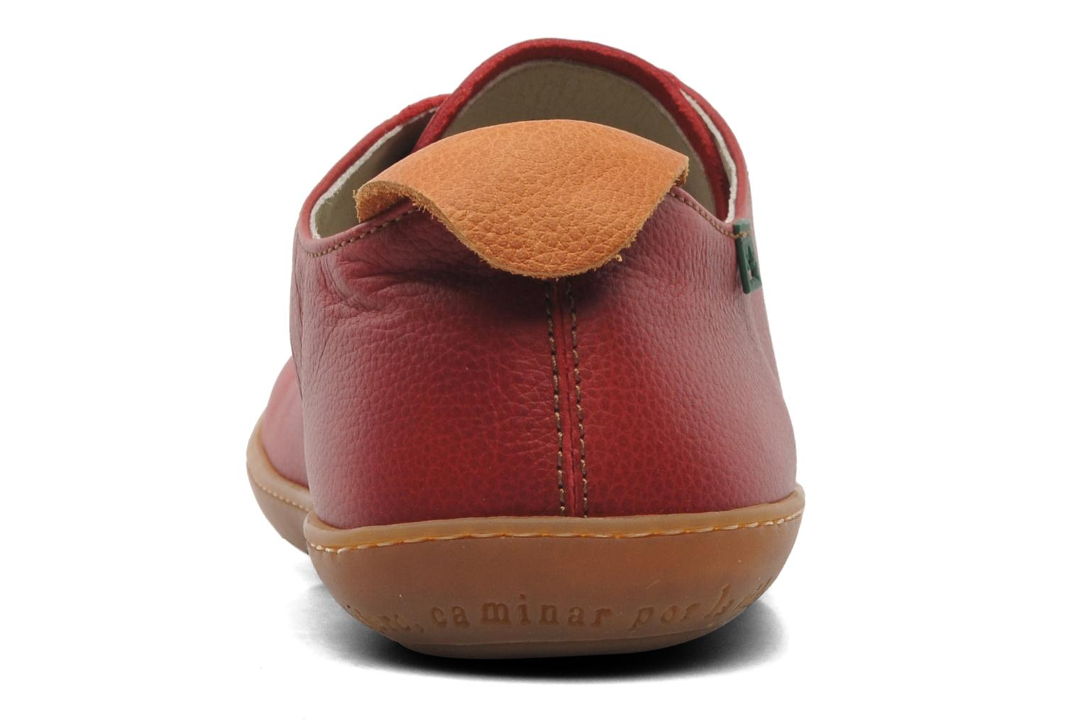 Lace-up shoes El Naturalista El Viajero N296 M Red view from the right