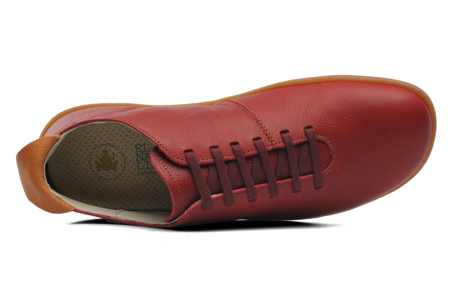 Lace-up shoes El Naturalista El Viajero N296 M Red view from the left