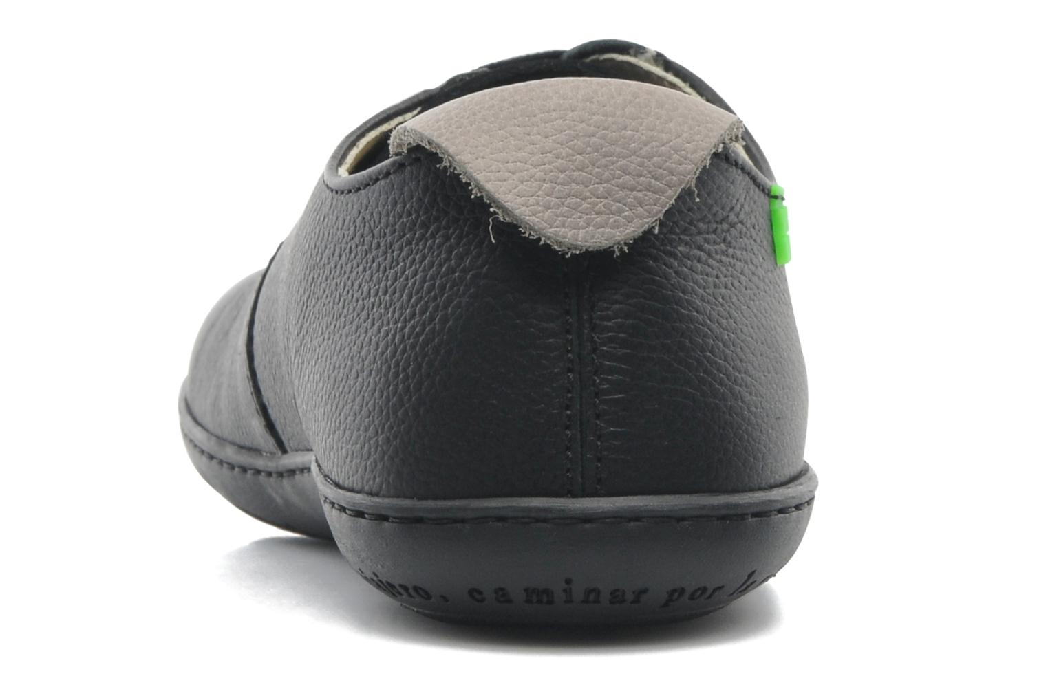 Lace-up shoes El Naturalista El Viajero N296 M Black view from the right