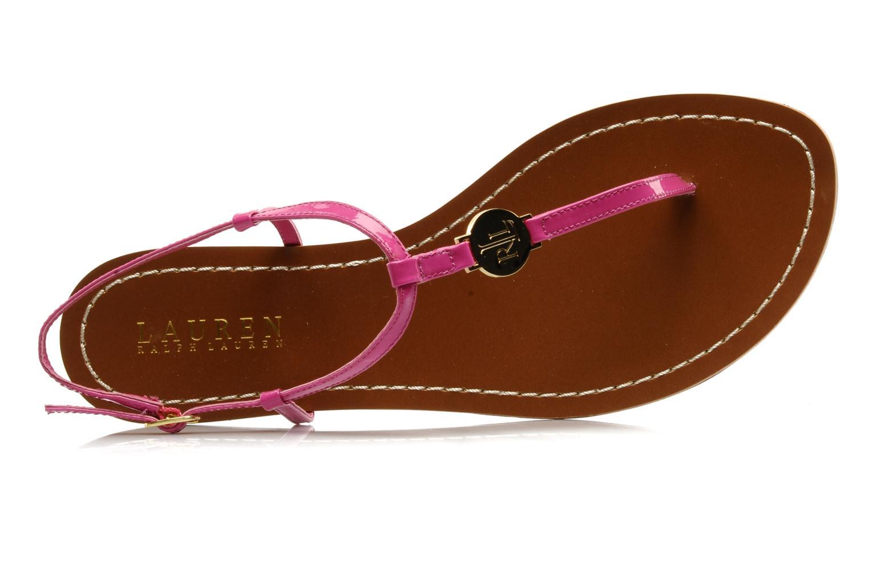 Sandales et nu-pieds Lauren by Ralph Lauren Aimon Violet vue gauche