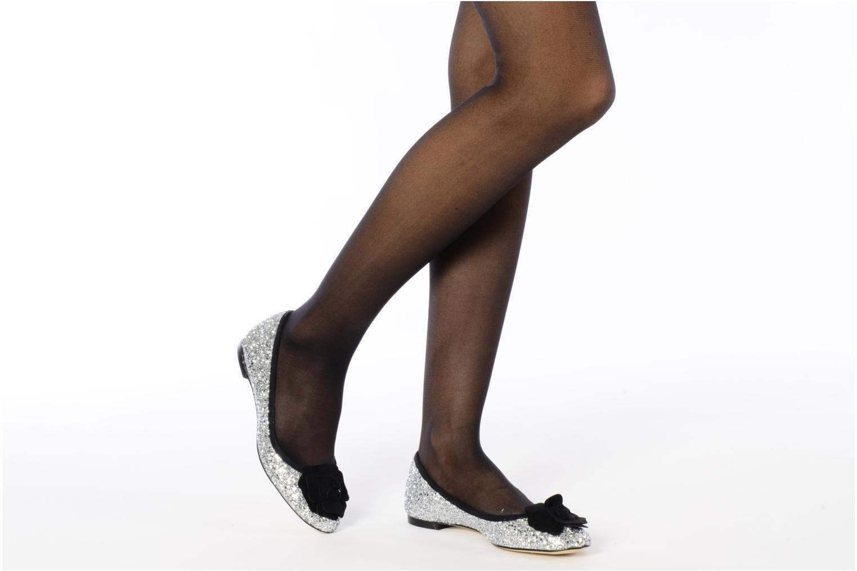 Ballerines Beyond Skin FLEUR Argent vue bas / vue portée sac