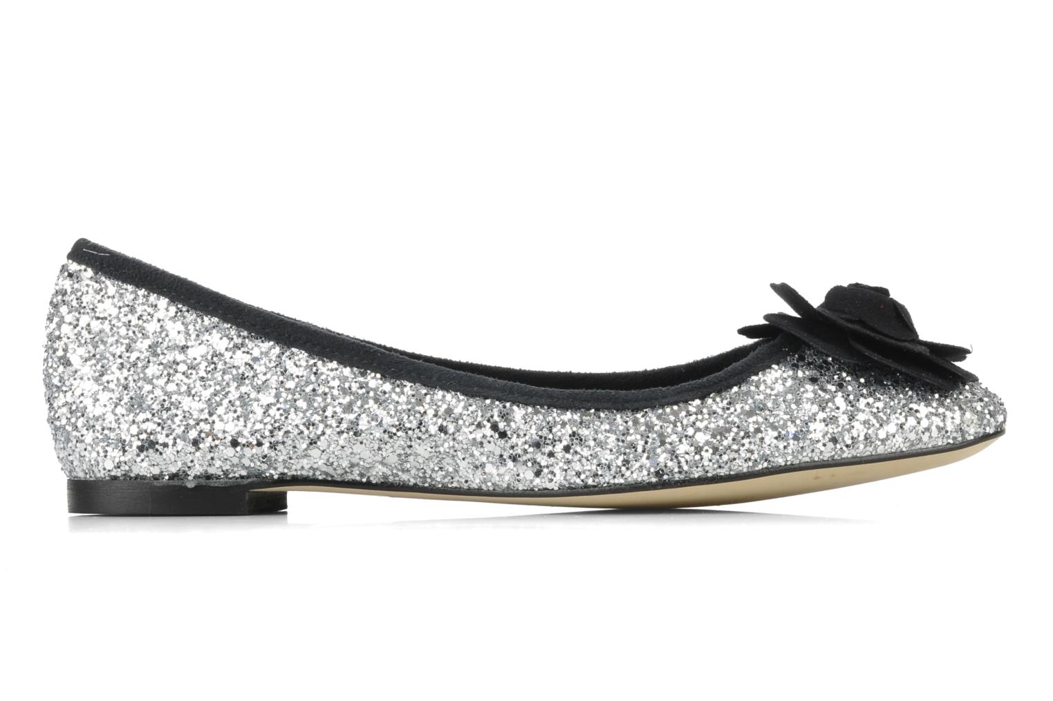 Ballet pumps Beyond Skin FLEUR Silver back view