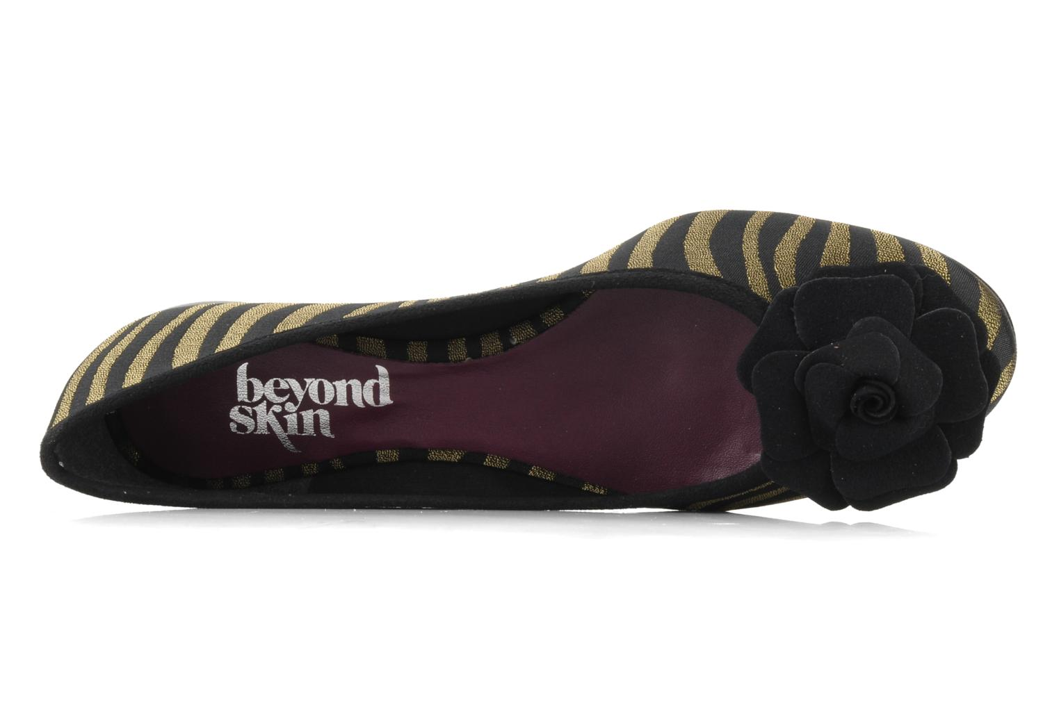 Ballet pumps Beyond Skin FLEUR Bronze and Gold view from the left