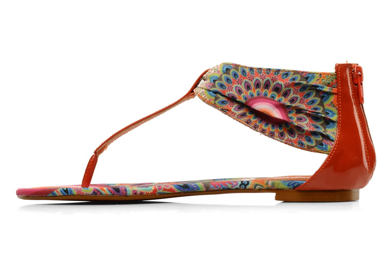 Sandales et nu-pieds Desigual Aolani Orange vue face